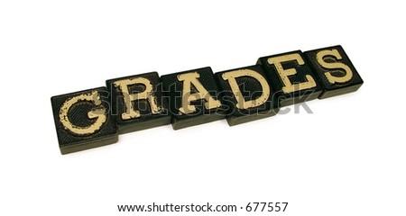 Grades - stock photo