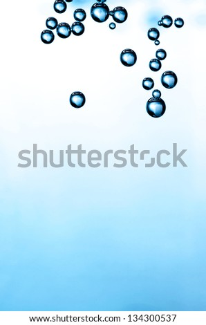 Gradient background with bubbles in a corner. - stock photo