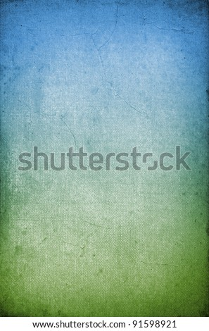 Gradient green and blue vintage paper texture or background - stock photo