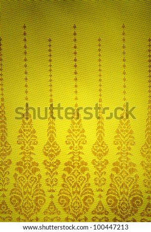 Gradient with gold pattern Fabric - stock photo