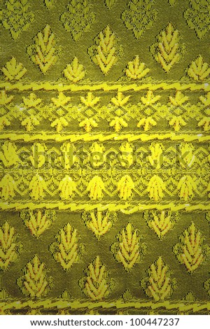 Gradient with Thai pattern Fabric - stock photo