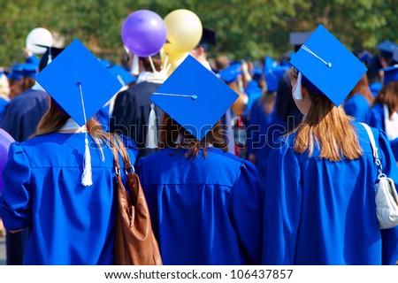 Graduate students - stock photo