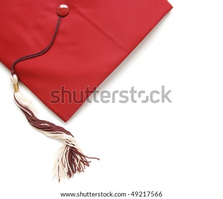 graduation cap with tassel - stock photo
