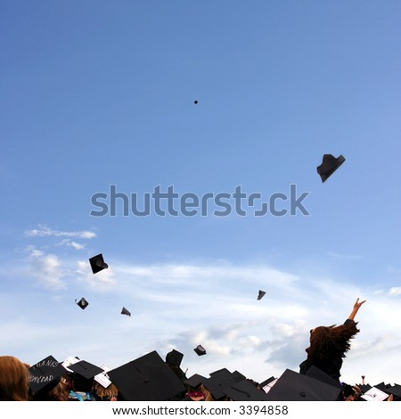 Graduation celebration at university - stock photo