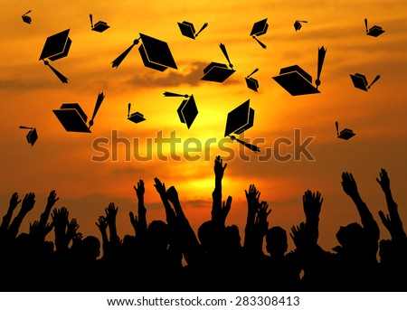 Graduation celebration day  - stock photo