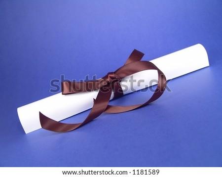 Graduation Certificate - stock photo