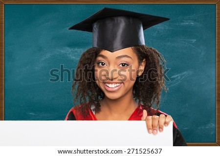 Graduation, Sign, Student. - stock photo