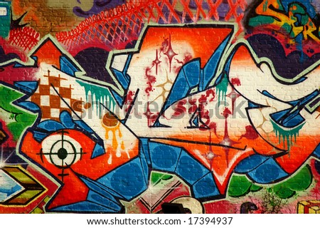 Graffiti 1 - stock photo