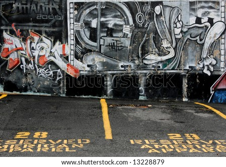 Graffiti Art - urban decay - stock photo