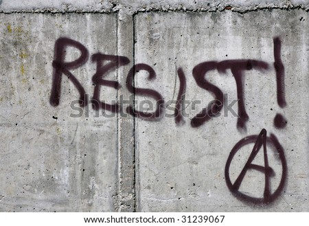 Graffiti on a wall in Amsterdam - stock photo