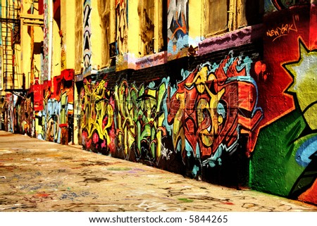 Graffiti shot - stock photo