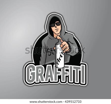 grafitti artist design vector illustration - stock photo