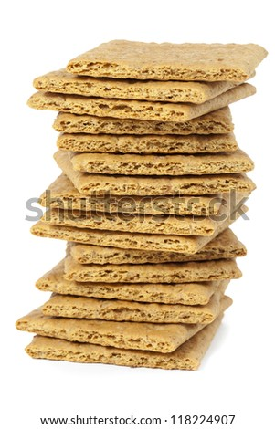 Graham Crackers in a close-up image - stock photo