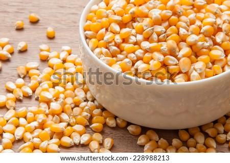 grain of corn - stock photo