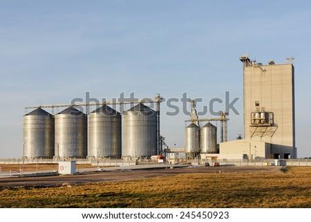 Grain warehouse - stock photo