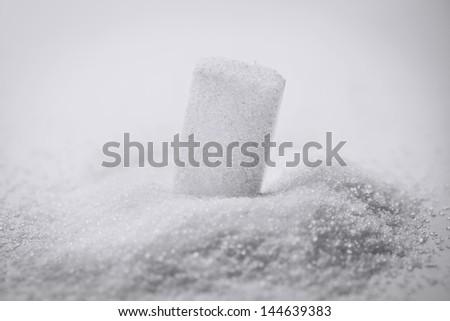 grains and sugar cubes - stock photo