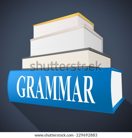 Grammar Book Showing Rules Of Language And Tutoring Learning - stock photo