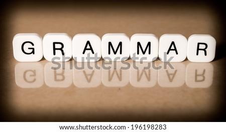 Grammar concept - stock photo