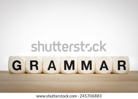 Grammar is the set of structural rules governing the composition of clauses, phrases, and words in any given natural language.  - stock photo