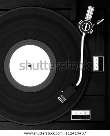 Gramophone film negative - stock photo