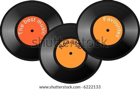 Gramophone plates - stock photo