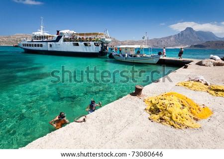 Gramvousa island, (Crete, Greece) - stock photo