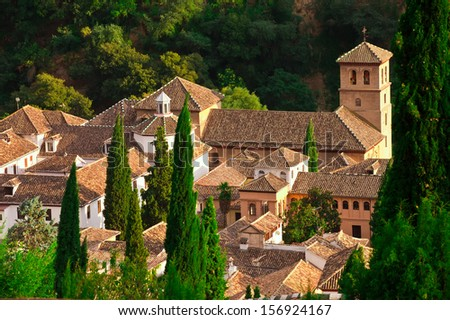 Granada in the early morning at sunrise  - stock photo