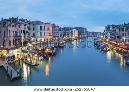 Grand Canal of Venice, Italy  - stock photo