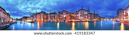 Grand Canal panorama, Venice, Italy - stock photo