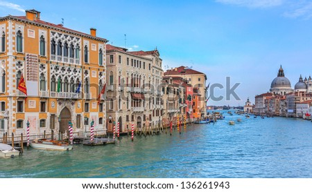 Grand Canal Venice - stock photo