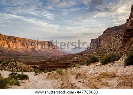 Grand Canyon from below, Arizona - stock photo