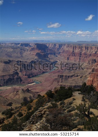 Grand Canyon from Desert View - stock photo