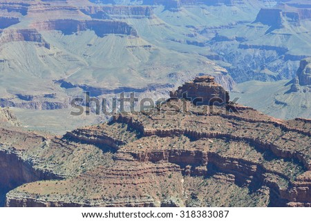 Grand Canyon in Arizona in September - stock photo