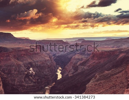 Grand Canyon landscapes - stock photo