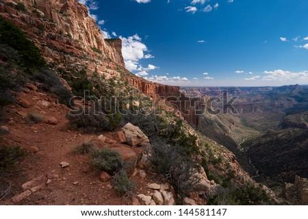 Grand Canyon Nankoweap trail - stock photo