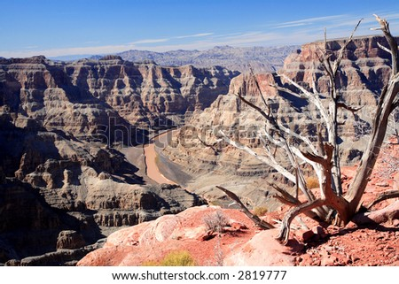 Grand Canyon National Park-Guano Point – Hualapai Indian Reservation - stock photo
