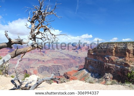 Grand Canyon National Park in Arizona, United States. Colorado River visible. Mohave Point view. - stock photo