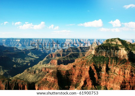Grand Canyon north rim - stock photo