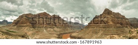 Grand Canyon Panorama USA, Nevada beautiful landscape - stock photo