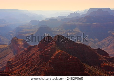 Grand Canyon Pastel Sunset - stock photo