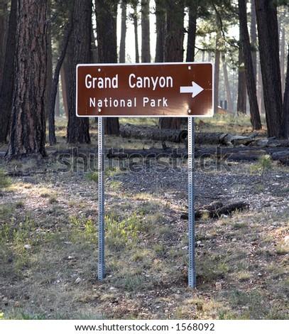 Grand Canyon Road Sign - stock photo