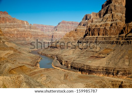 Grand Canyon Rocks Landscape View - stock photo