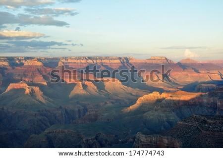 Grand Canyon Sunset 5 - stock photo