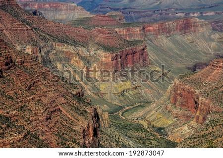 Grand Canyon view from east rim, Arizona, USA - stock photo