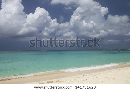 GRAND CAYMAN, CAYMAN ISLANDS, GOVERNORS BEACH WITHIN SEVEN MILE BEACH STRETCH - stock photo