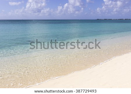 Grand Cayman, Georgetown, seven miles beach - stock photo