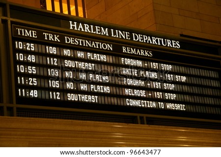 Grand Central Departures - stock photo