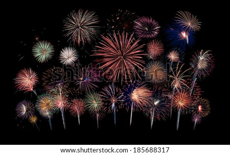 Grand Finale - Fireworks Blast at 4th of July celebration in the United States  - stock photo