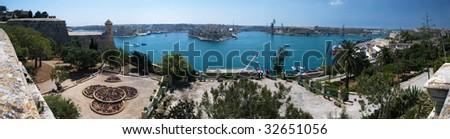 Grand Harbor Panorama - stock photo