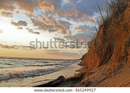 Grand Haven Beach - stock photo